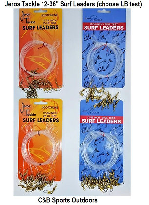 Jeros Tackle 12-36 Inch Surf Leaders (choose LB test)