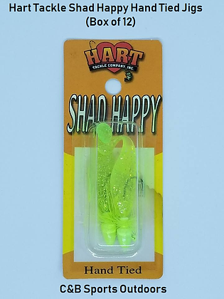 Hart Tackle Shad Happy Hand Tied Jigs (12 per box)
