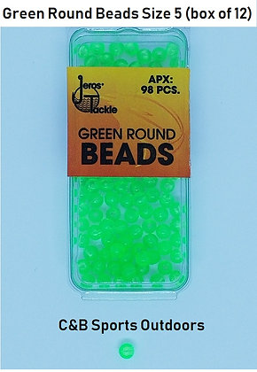 Green Round Beads Size 5 (Box of 12)