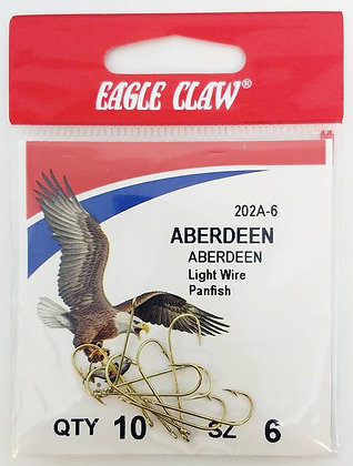 Eagle Claw® Size 6 Aberdeen Hooks 10 per pack