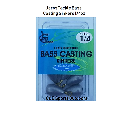 Jeros Tackle Bass Casting Sinkers (box of 12)