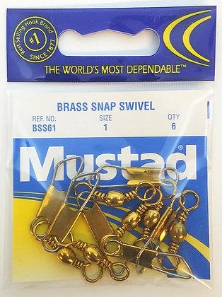 Mustad Brass Snap Swivels