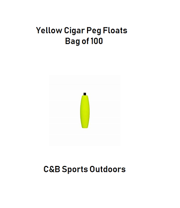 Yellow Cigar Peg Floats (bag of 100)