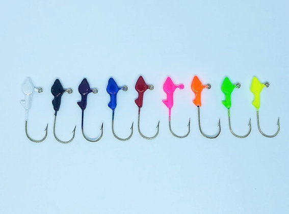 Bag of 25 Minnow Head Jig Heads 1/32oz Size 2 hook (choose color)