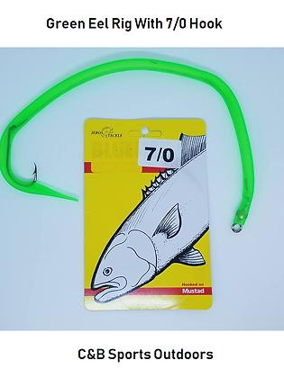 Green Eel Rig with 7/0 Hook