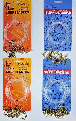 """Jeros Tackle Scotchline 12-36"""" Surf Leaders (choose LB test)"""