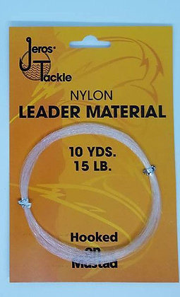 Jeros Tackle Nylon Leader Material 10yds 15lb test
