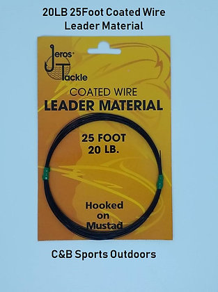 20Lb Test 25 Foot Coated Wire Leader Material (Lot of 12)