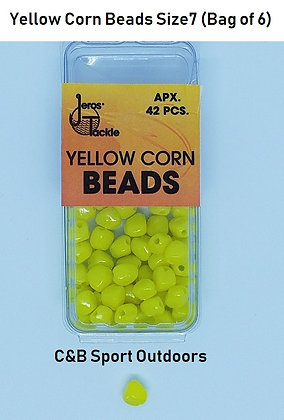 Yellow Corn Beads Size 7 (Bag of 6)