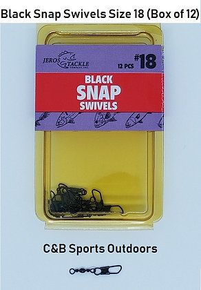 Black Snap Swivels Size 18 (Box of 12)