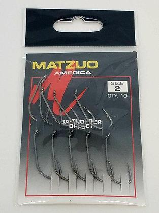 Matzuo Size 2 Baitholder Offset Hooks
