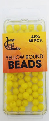 Jeros Tackle Size 6 Yellow Round Beads (apx. 80 pcs)