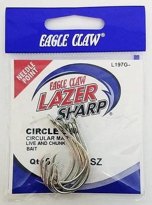 Eagle Claw® Lazer Sharp Circle Sea Hooks (choose size)