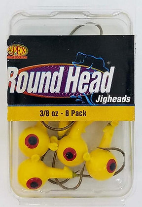 Apex Round Head 3/8oz Jigheads 8pk