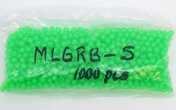 Bag of 1000 Round Beads Size 5 Green