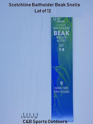 Scotchline Bait Holder Beak Snelled Hooks Size14 (Lot of 12)
