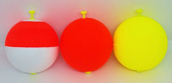 "3"" Unweighted Round Snap-On Floats (choose color)"