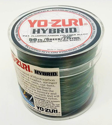 Yo-Zuri Hybrid Fluorocarbon Fishing Line - 50lb/275yds Green