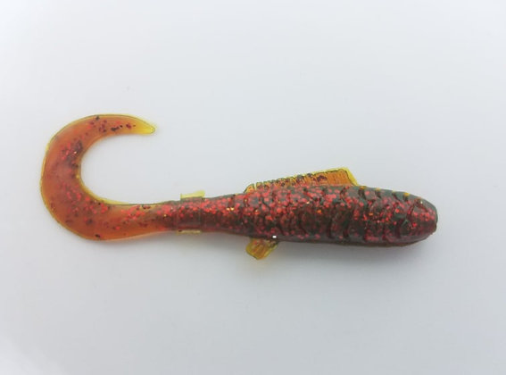 """AWD Baits - 2"""" Crappie Delights - CD22 Motor Oil"""