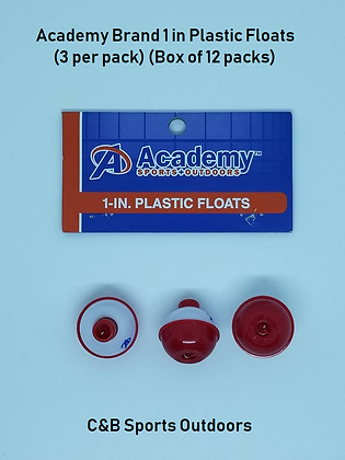 Academy Brand 1 Inch Plastic Floats (box of 12 packs)