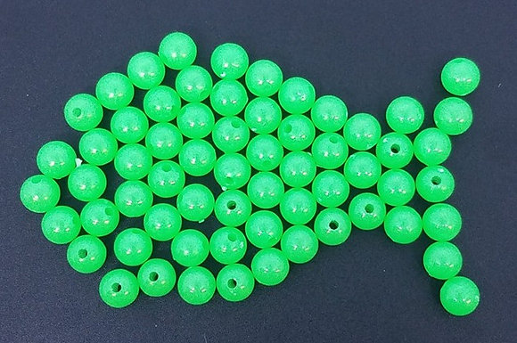 Bag of 50 8mm Round Green Beads