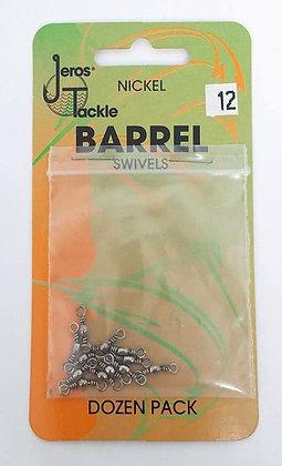 Jeros Tackle Size 12 Nickel Barrel Swivels