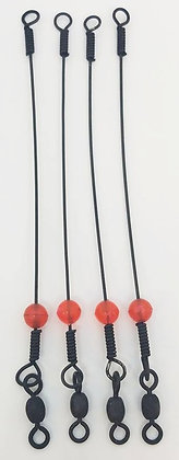 "5"" Wire Shorty Leaders (Pack of 4)"