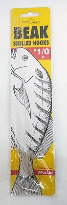 "Jeros Tackle Size 1/0 8"" Beak Snelled Hooks (68L-1/0)"