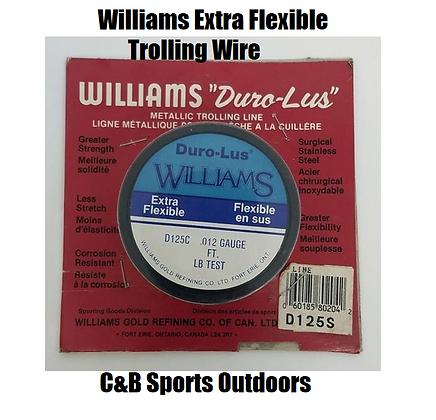 "Williams ""Duro-Lus"" Metallic Trolling Line 500ft (choose lb test)"
