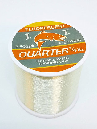 Jeros Tackle 1/4lb Fluorescent Monofilament Spinning Line - 4lb/3500yds