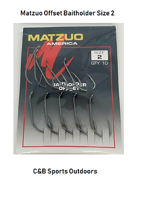 Matzuo Offset Baitholder Size 2 (box of 12)