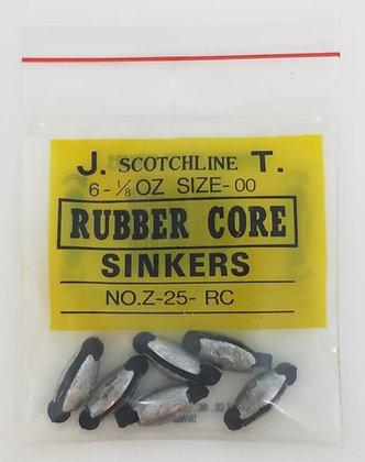 Scotchline 1/8oz Rubber Core Sinkers - Size 00 (Z-25-RC)