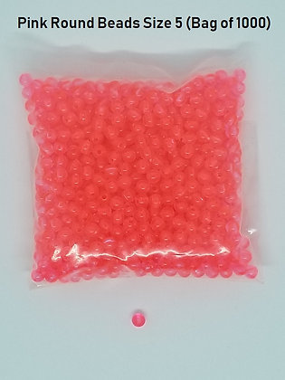 Round Pink Beads Size 5 (Bag of 1000)