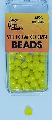 Jeros Tackle Size 7 Yellow Corn Beads (Apx. 42pcs)