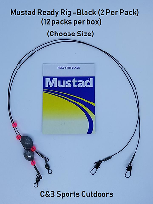 Mustad Ready Rig-Black 2 Per Pack  (Box of 12) (Choose Size)