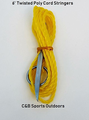6' Yellow Twisted Poly Cord Stringers (Bag of 50)