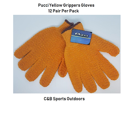Pucci Yellow Gripper Gloves (12 per pack)