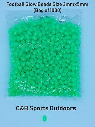 Football Glow Beads (3mmx5mm) (bag of 1000)