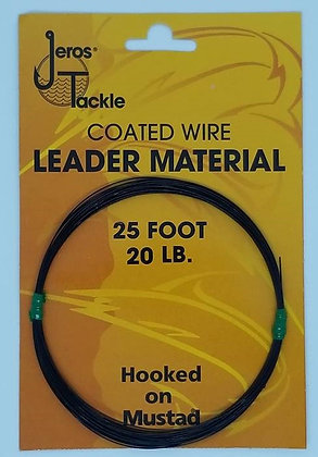 Jeros Tackle 25ft 20lb Coated Wire Leader Material