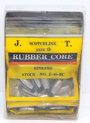 Box of Scotchline 1/4oz Rubber Core Sinkers - Size 0 (Z-40-RC)