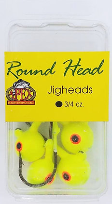 Apex Round Head 3/4oz Jigheads 5pk