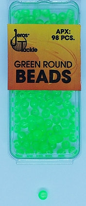 Jeros Tackle Size 5 Green Round Beads (Apx. 98 pcs)