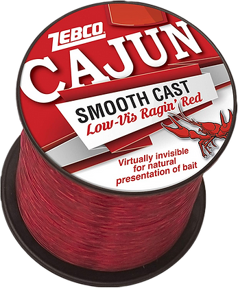 Zebco Cajun Smooth Cast Low-Vis Ragin' Red Fishing Line