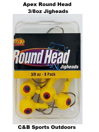 Apex Round Head 3/8oz Jigheads 8pk