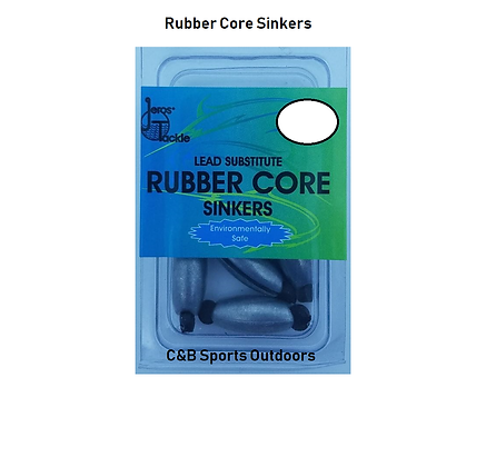 Jeros Tackle Rubber Core Sinkers (box of 12)