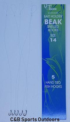 Jeros Tackle Scotchline Bait Holder Beak Snelled Hooks Size 14