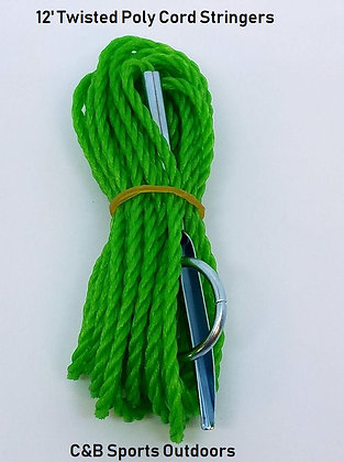 12' Green Twisted Poly Cord Stringers (Bag of 50)