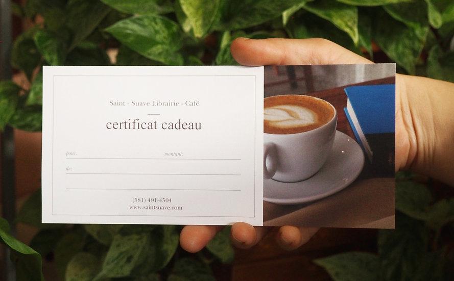 Certificat-cadeau