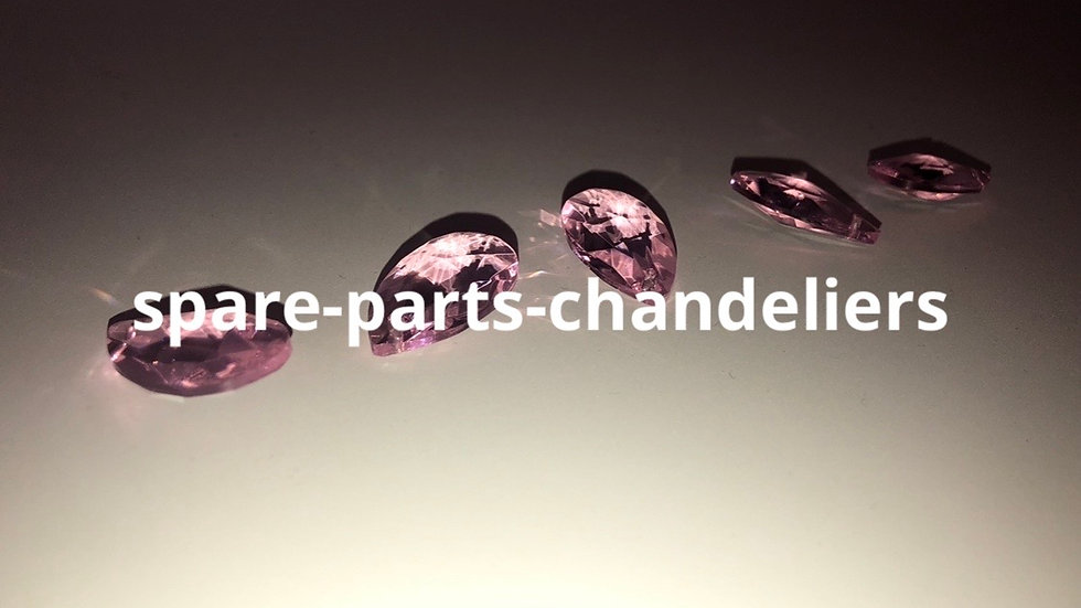 Pink drops, spare parts for chandeliers and chains