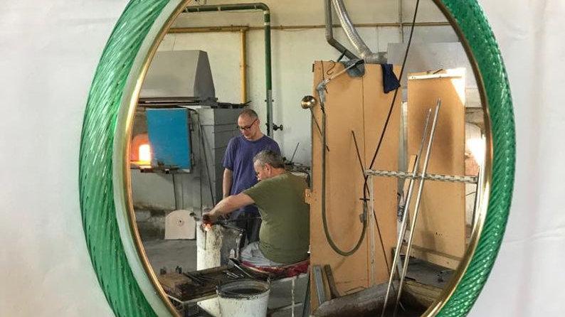 Mirror, in Murano blown glass